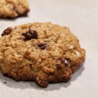 Delicious Oat Chocolate Chip Cookie… Guilt & Gluten Free!