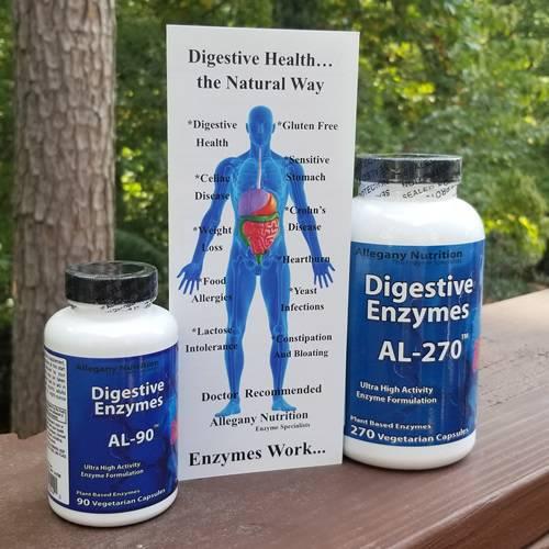 AL Series Gluten Free Digestive Enzymes Allegany Nutrition