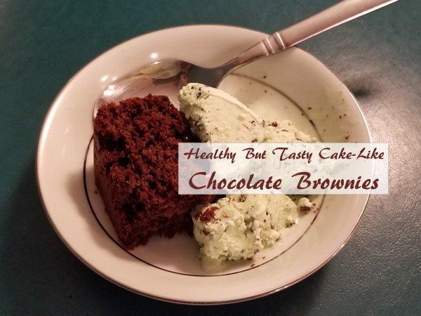 Healthy Cake-Like Chocolate Brownies