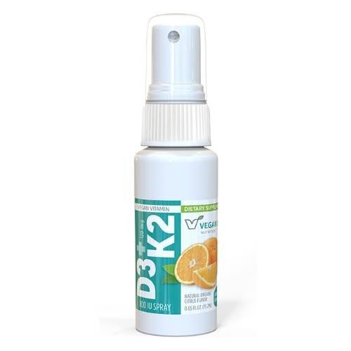 D3-K2 Vegan Vitamin Spray Supplement Product Image for UPC 816663001656