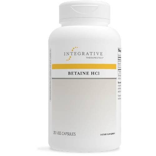 Betaine HCl Hydrochloric Acid with Pepsin Digestive Aid Integrative Therapeutics UPC 871791002364