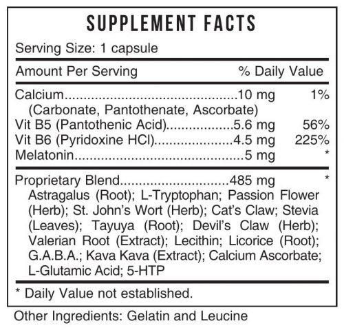DREM Natural Sleep Aid Systemic Formulas Bio Challenge 427 UPC 635585042710 Product Label