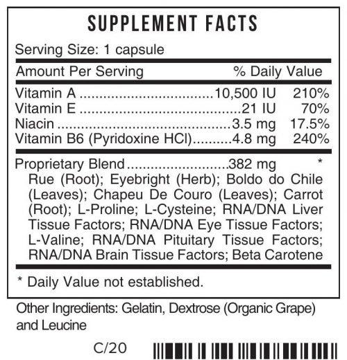 I Eyes Supplement Systemic Formulas Bio Function 50 UPC 635585005012 Product Label