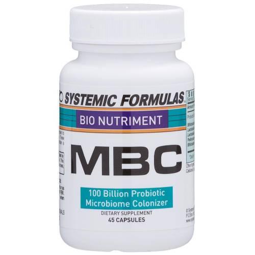 MBC 100 Billion Count Probiotic Microbiome Colonizer Bio Nutriment 138 Systemic Formulas UPC 635585013819
