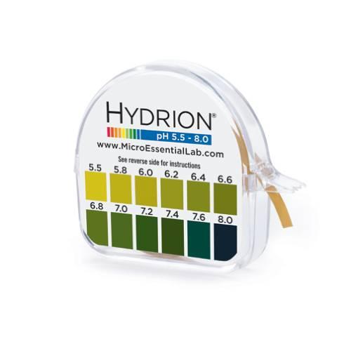 Hydrion Saliva & Urine pH Testing Litmus Paper 5.5-8.0
